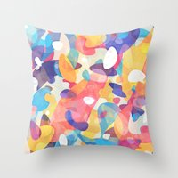 Chaotic Construction Throw Pillow
