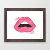 Read My Lips Framed Art Print