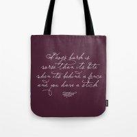Proverbs: A Dog's Bark Tote Bag
