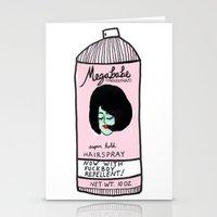 Megababe Hairspray. Stationery Cards
