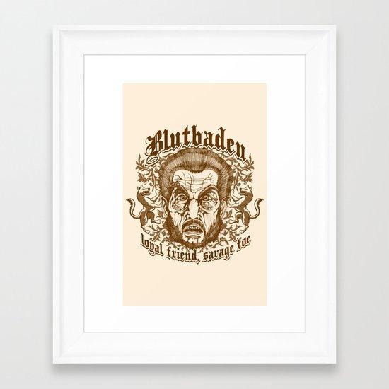 Blutbaden Sepia Framed Art Print