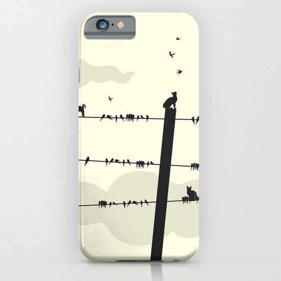 Cats and Birds iPhone & iPod Case