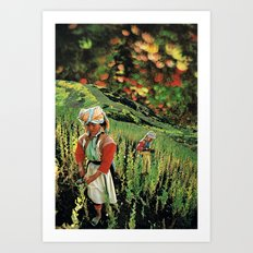 Poppy Mountain... Art Print