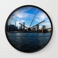 New York Skyline - Color Wall Clock