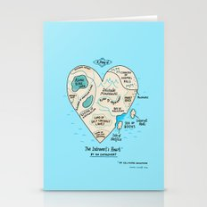 A Map of the Introvert's Heart Stationery Cards
