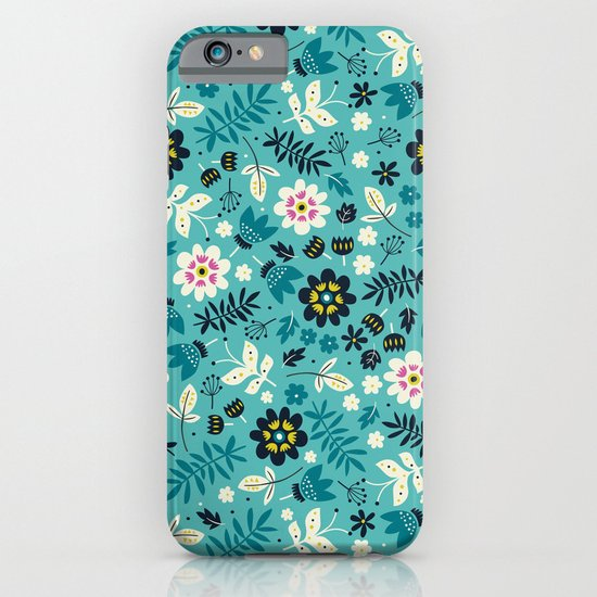 Fresh Blossoms (Greens) iPhone & iPod Case
