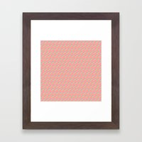 80's Pastel Stripes on Pink  /// www.pencilmeinstationery.com Framed Art Print