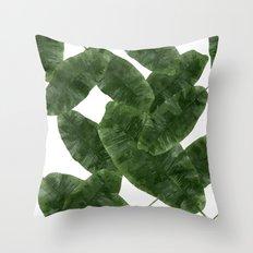 Banana Leaves V2 #society6 #decor #buyart Throw Pillow