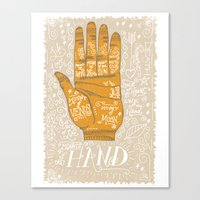THE PALM READER Canvas Print