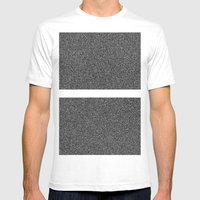 Noise Interrupted Mens Fitted Tee White SMALL