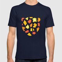 Leopard Print Mens Fitted Tee Navy SMALL