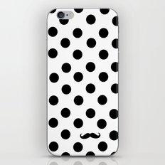 Dots mustache iPhone & iPod Skin