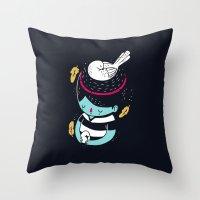 Bird Brain Throw Pillow