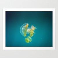 Jellyfish Dance Art Print