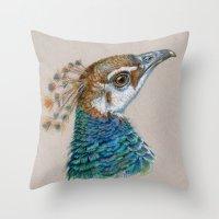 Peacock CC006 Throw Pillow