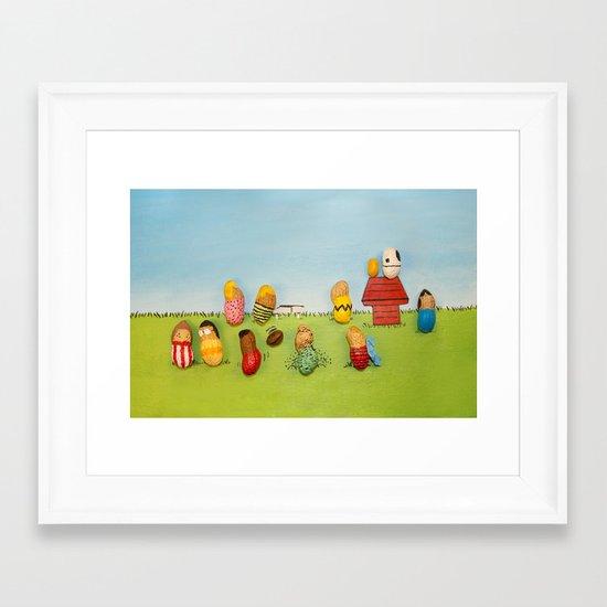 Real Peanuts Framed Art Print
