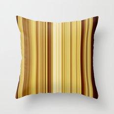 Brown Stripes  Throw Pillow