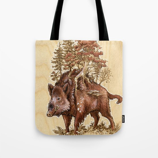 Boar of the Woods Tote Bag