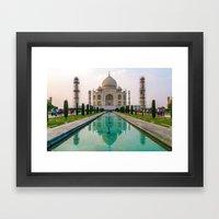 Taj Mahal at Sunset Framed Art Print