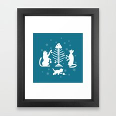 Cats at Christmas Framed Art Print