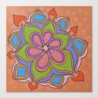 Drops and Petals 4 Canvas Print