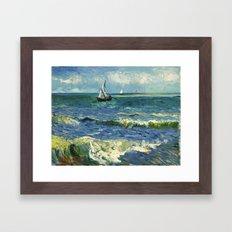 Vincent Van Gogh - Sea Framed Art Print