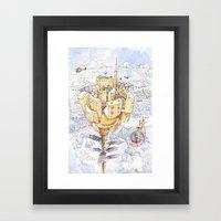 The Flower City Framed Art Print