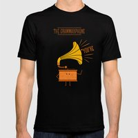 Grammarphone Mens Fitted Tee Black SMALL