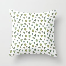 Cartoony Cacti Pattern Throw Pillow