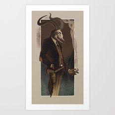 Crooked man Art Print