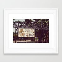 Plaza D'Armas New Orleans French Quarter City Color Photography Framed Art Print