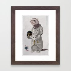 Ferreting in Space Framed Art Print
