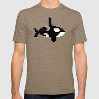 8-bit Orca Mens Fitted Tee Tri-Coffee SMALL