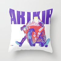 Bartkira On Motorcylce Throw Pillow
