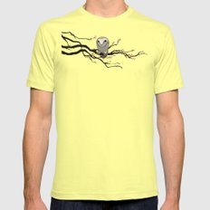 Night Owl Mens Fitted Tee Lemon SMALL