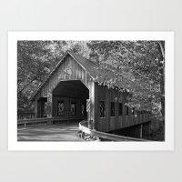 Covered Bridge Art Print
