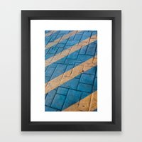 Yellow Lines at the ground Framed Art Print