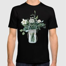 Forest Bouquet Mens Fitted Tee Black SMALL