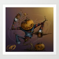 Freddy Pumpkins Art Print