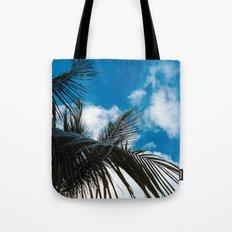 Sky behind the trees Tote Bag