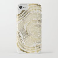 gold iPhone & iPod Cases featuring Gold Tree Rings by Cat Coquillette