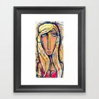 Why the long face?  Framed Art Print