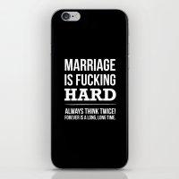 Marriage Is Fucking Hard… iPhone & iPod Skin