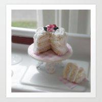 Lets love cake Art Print