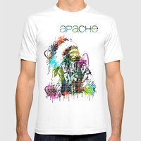 Apache Mens Fitted Tee White SMALL