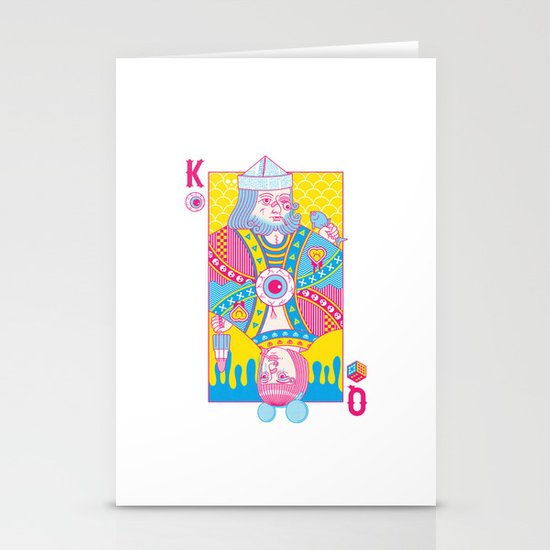 King Of Nothing, Queen Of Nowhere Stationery Card