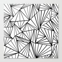 Ab Fan Zoom Invert  Canvas Print