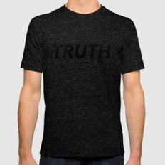 TRUTH Mens Fitted Tee Tri-Black SMALL