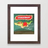 Caimanman Framed Art Print