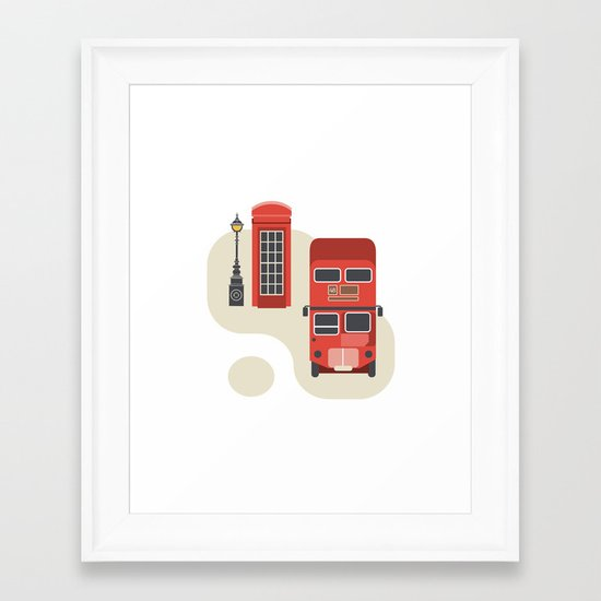 London icon Framed Art Print